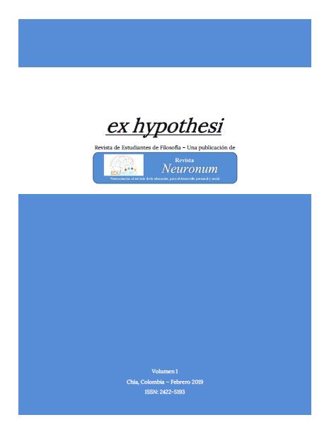 Ex hypothesi. Revista de estudiantes de filosofía - Una publicación de Neuronum-
